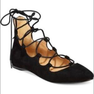 Nine West Black Sign Me Up Gladiator Sandals 8.5
